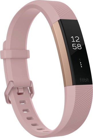 Fitbit - Alta HR Activity Tracker + Heart Rate (Small) - Soft Pink/Rose Gold