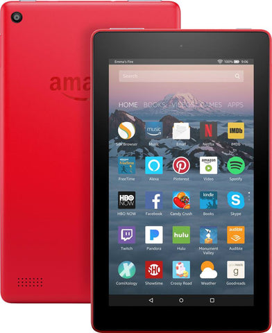 "Amazon Fire 7 7"" Tablet 8GB 7th Generation 2017 Release Punch Red"