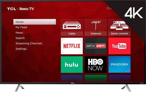TCL 55 LED - 2160p - Smart - 4K Ultra HD TV Roku TV - Black