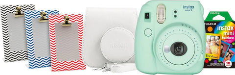 Fujifilm instax mini 9 Instant Film Camera Bundle Mint Green