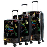 3-Piece TSA Expandable Spinner Luggage Set Las Vegas