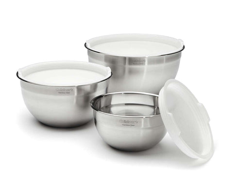 Cuisinart Stainless Steel Mixing Bowls & Lids - Set of 3