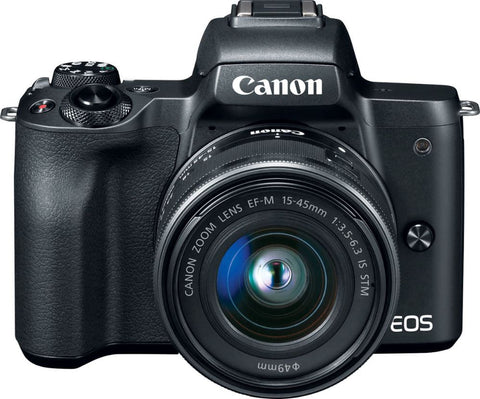 Canon - EOS M50 Mirrorless Camera with EF-M 15-45mm f/3.5-6.3 IS STM Zoom Lens - Black