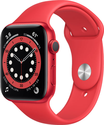 Apple Watch Series 6 (GPS) 44mm (PRODUCT)RED Aluminum Case with (PRODUCT)RED Sport Band - (PRODUCT)RED