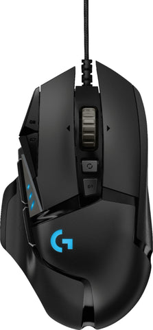 Logitech - G502 HERO Wired Optical Gaming Mouse with RGB Lighting - Black