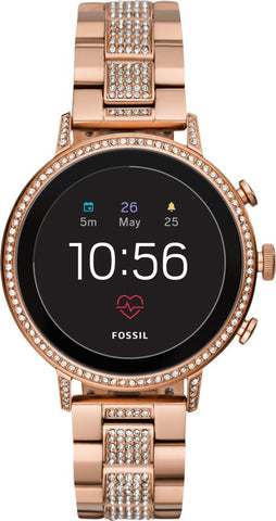 Fossil - Gen 4 Venture HR Smartwatch 40mm Stainless Steel - Rose Gold