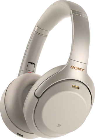 Sony WH-1000XM3 Wireless Noise Canceling Over-the-Ear Headphones with Google Assistant - Silver