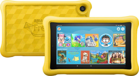 "Amazon - Fire HD Kids Edition - 8"" - Tablet - 32GB 8th Generation, 2018 Release - Yellow"