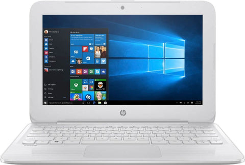 "HP - Stream 11.6"" Laptop - Intel Celeron - 4GB Memory - 64GB eMMC Flash Memory - Textured Linear Grooves In Snow White"