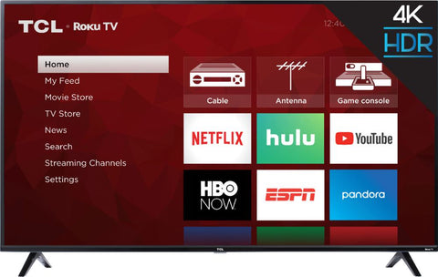 "TCL - 55"" Class - LED - 4 Series - 2160p - Smart - 4K UHD TV with HDR - Roku TV"