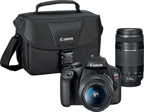 Canon - EOS Rebel T7 DSLR Camera with EF-S 18-55mm and EF 75-300mm Lenses