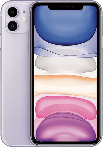 "Apple iPhone 11 (6.1"", 128GB, Unlocked, Purple)"