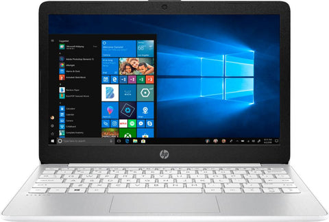 "HP - Stream 11.6"" Laptop - Intel Atom x5 - 4GB Memory - 64GB eMMC Flash Memory - Vertical Brushed Pattern Diamond White"