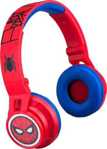 eKids - Marvel Spider-Man Homecoming 2 Wireless On-Ear Headphones - Black/Red