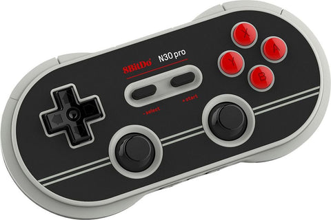 8BitDo - N30 Pro 2 Wireless Controller for PC  Mac  Android  and Nintendo Switch - Black And Gray