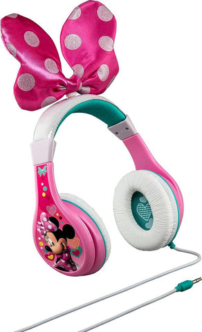 eKids - Minnie Mouse Bow-tique Wired Over-the-Ear Headphones - Pink/White