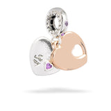 Pandora Two Hearts Dangle Charm