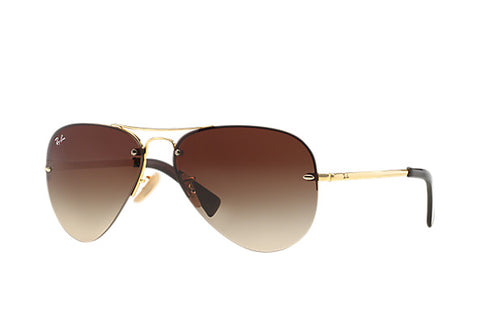 Ray-Ban Aviator RB3449 Gold, Brown Lenses, Standard 59mm