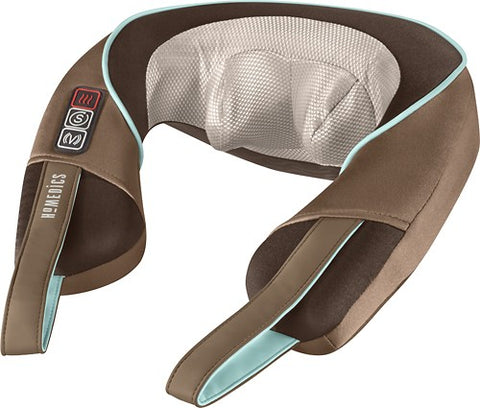 HoMedics - Shiatsu Neck and Shoulder Massager with Heat - Brown