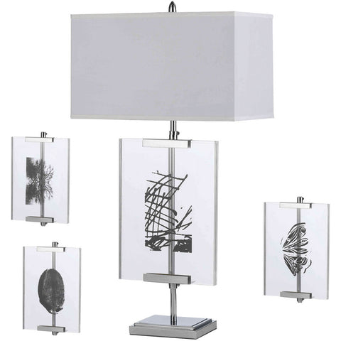 Easel Table Lamp with Interchange Panels