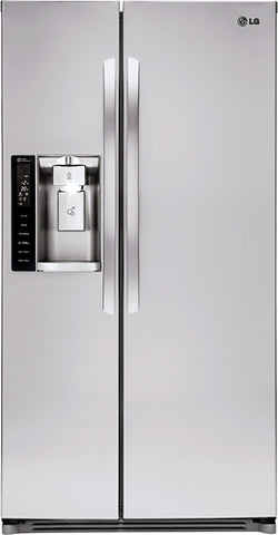 LG - 26.2 Cu. Ft. Side-by-Side Refrigerator with Thru-the-Door Ice and Water