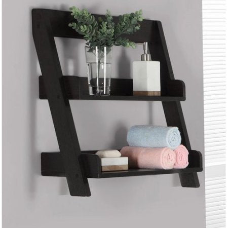 "Monarch Bathroom Accent - 24""H - Cappuccino Wall Mount Shelf"