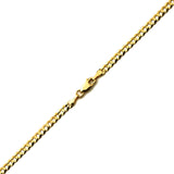 10k Yellow Gold 3.5mm Plain Solid Curb Cuban Necklace W/ Lobster Lock - 20""