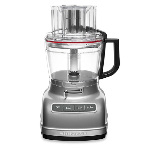 KitchenAid ExactSlice System 11-Cup Food Processor with External Adjustable Lever in Contour Silver
