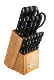 New England Cutlery 15pc Block Knife Set