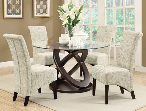 Monarch Linen Parson Dining Chair Set - 2pc - Cream