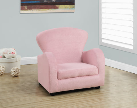 Monarch Fuzzy Pink Kids Chair
