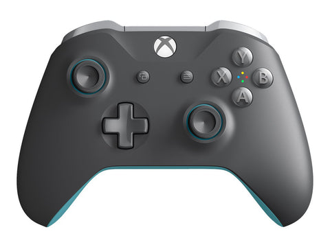 Microsoft - Wireless Controller for Xbox One and Windows 10 - Gray/Blue
