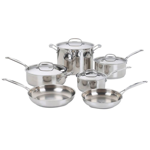 Cuisinart Chef's Classic 10-Piece Stainless Steel Cookware Set - B