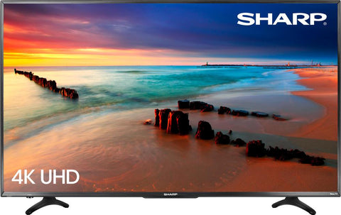 Sharp 55 LED - 2160p - Smart - 4K Ultra HD TV Roku TV - Black