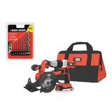 Black & Decker - 20V MAX Lithium-ion Drill/Driver & Saw Kit w/ Drill Set