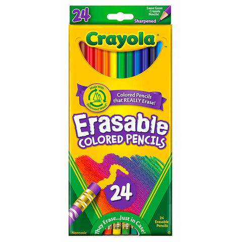 Crayola Llc 24 Ct Erasable Colored Pencils