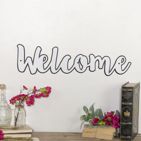 "VIP Home Metal Word Art ""Welcome"""