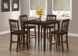 Monarch Dining Set - 5Pcs Set - Cappuccino Veneer Counter Height