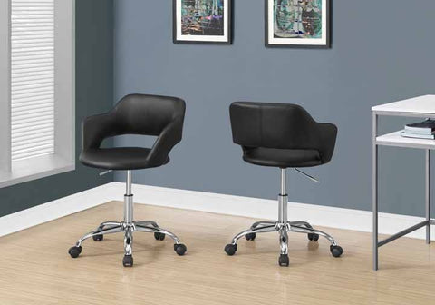 Monarch Office Chair - Black / Chrome Metal Hydraulic Lift Base