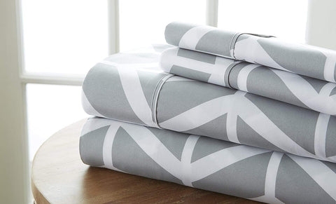 Restful Bliss Premium Ultra Soft Arrow Pattern 4 Piece Bed Sheet Set