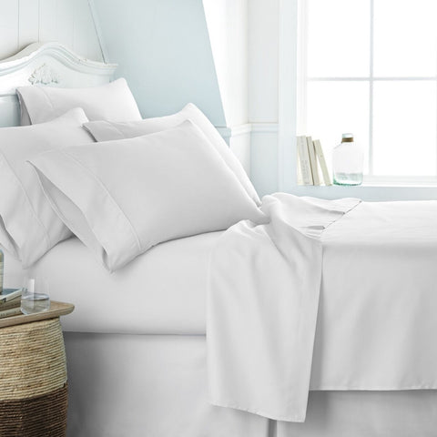 Restful Bliss Luxury Ultra Soft 6 Piece Bed Sheet Set - Queen - White