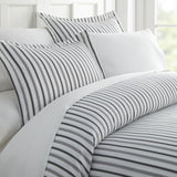 Restful Bliss Premium Ultra Soft Vertical Dreams Pattern 3 Piece Duvet Cover Set - Queen