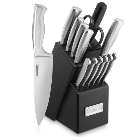 Cuisinart 15pc Stainless Steel Hollow Handle Block Set