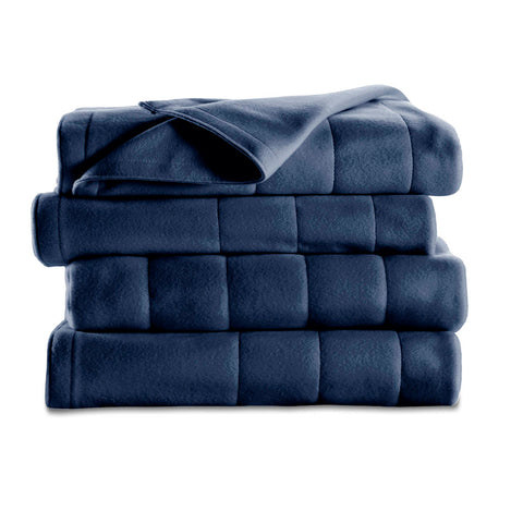 King Size Quilted Fleece Electric Blanket, Newport Blue