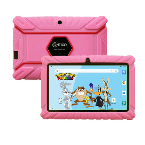 "Contixo K2-V8 Kids Tablet (7"", HD, 16GB, Wi-Fi, Android 8.1) - Pink"