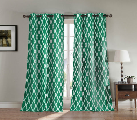 Blakely Heavy Blackout Geometric Window Curtain Panel Pair Set Of Two
