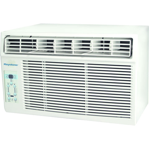 "Keystone Energy Star 12,000 BTU Window-Mounted Air Conditioner with ""Follow Me"" LCD Remote Control"