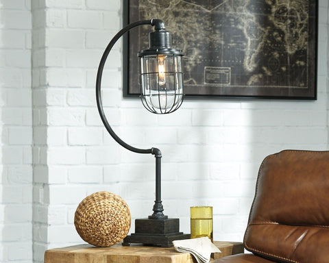 Jae Metal Desk Lamp  Antique Black by Ashley Furniture