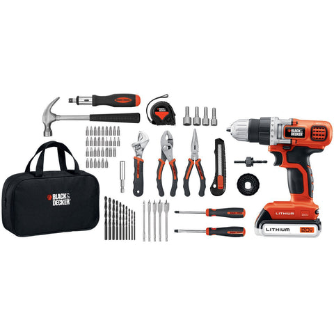 Black & Decker - 20V MAX Lithium Drill/Driver Project Kit