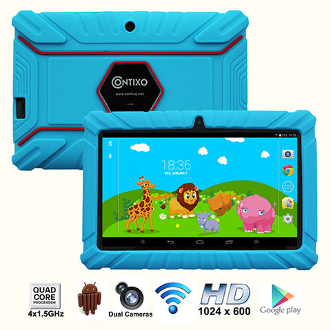 Contixo LA703-K2 Kids Tablet (7in, 8GB, WiFi, Android, Blue)